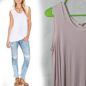NWT Michael Stars Ribbed Sleeveless Top One Size